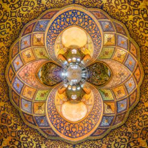 Chehelsotoon Palast Palace Gold Isfahan Orient Iran.