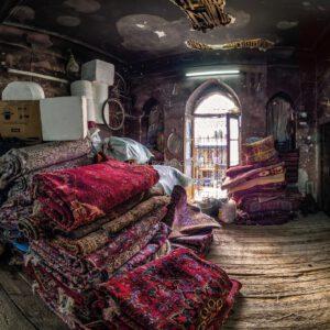 Orientalische Teppichwerkstatt in Schiras Iran. Oriental carpet workshop in Shiraz Iran.